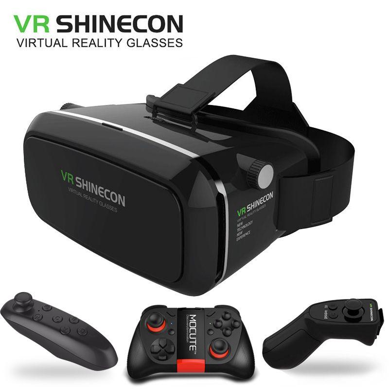 Compre Original Vr Shinecon Virtual Reality Vr Box 3d Vr Gafas Juego