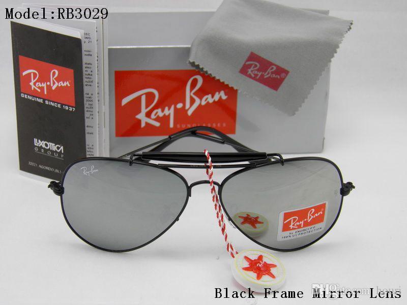 0dcb899b5a5b Glass Lens Mens Sun Glasses Pilot 3029 Shooter Glasses Brand ...