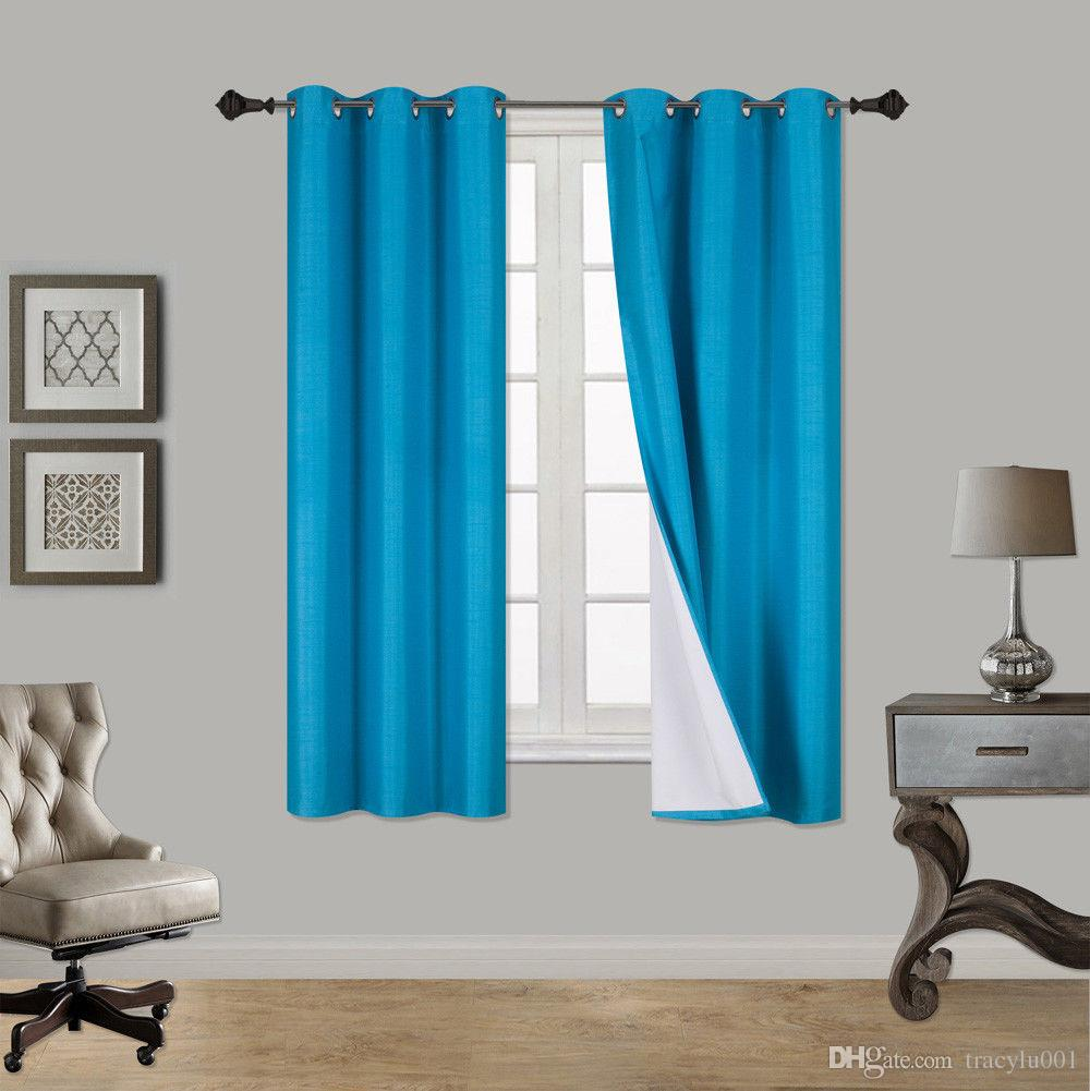 Modern Blackout Curtains For Living Room Bedroom Finished Drapes For Window  Sheer Curtains Treatment Blackout Blinds Panels