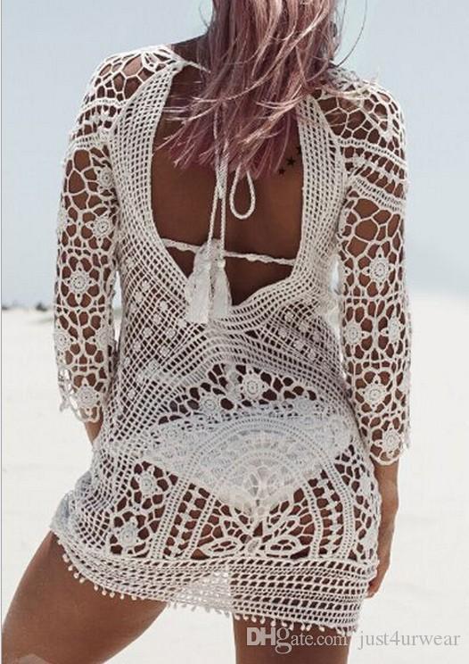 Женщины лето кружева сокрытия сыпь охранники цветок выдалбливают сексуальное бикини прикрыть пляжная одежда
