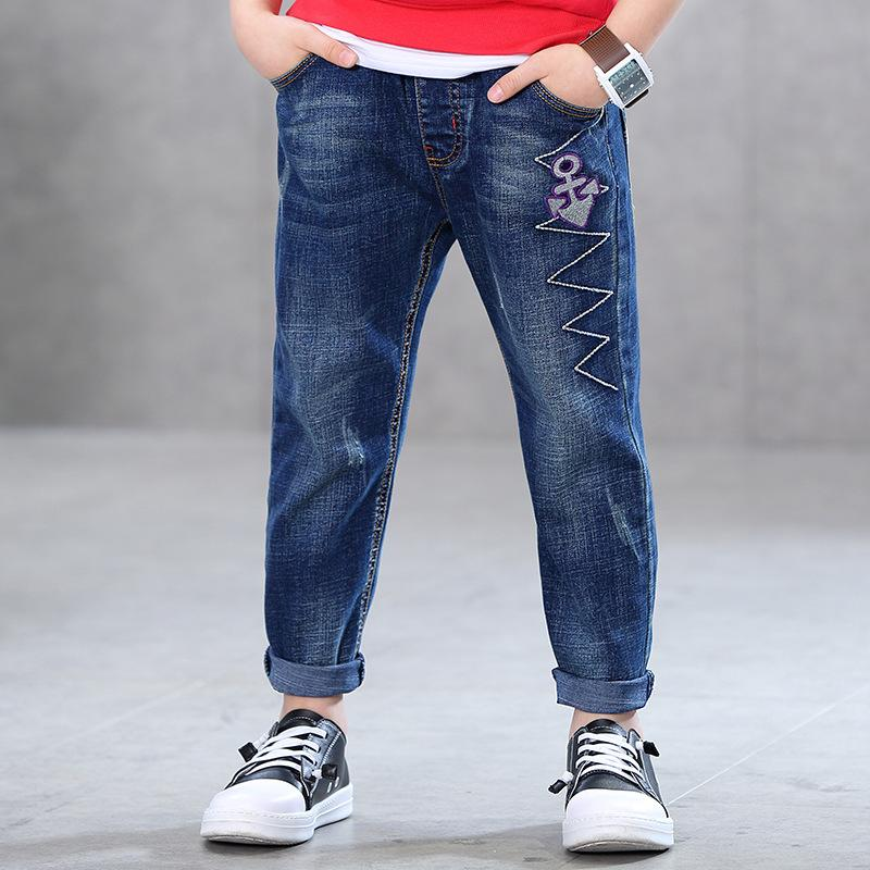 Fashion Casual Boys Jeans For 3 4 6 8 10 11 12 Years Old Children Kids Trousers Pants 2017 New Boy Clothes RKP175040