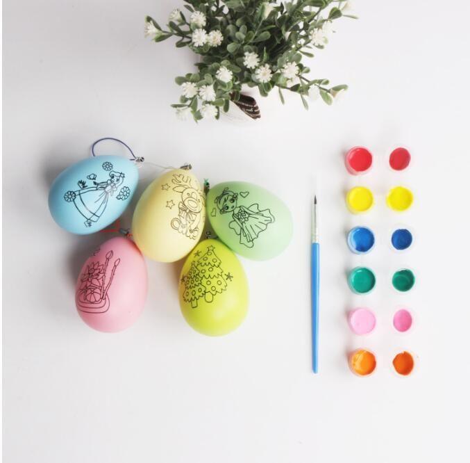 Easter Kids DIY doodle Egg set children Hand-painted eggs baby emulation  egg Learning Education Fun Funny Drawing Toys KKA5582