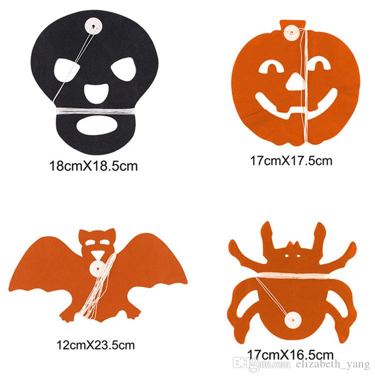 hot sale Halloween supplies party DIY decoration 3D Spider pumpkin ghost bats paper chain Garland banner pull flowers Decor wholesale