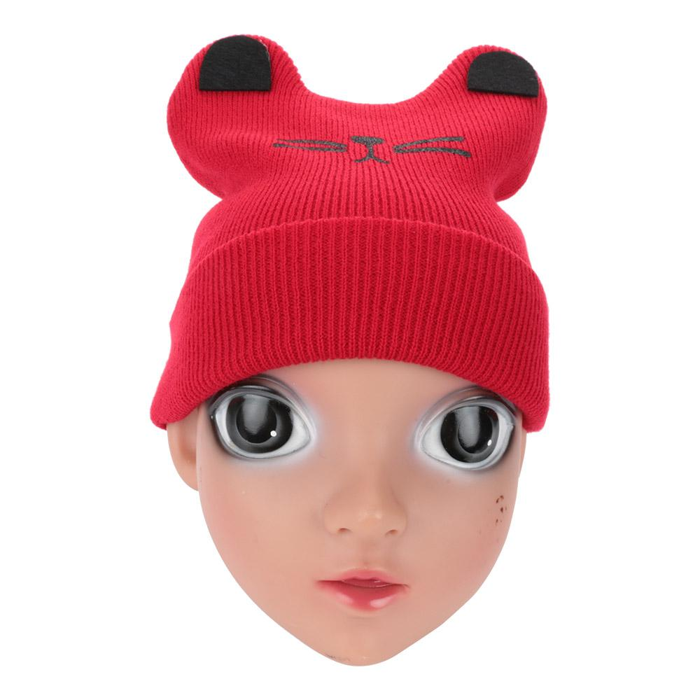 419cfe7acd6 2019 New Cartoon Little Rabbit Knitting Autumn Winter Warm Hat Cap Children  Boys Girls Cat Ear Beanie Cap Gift From Cutport