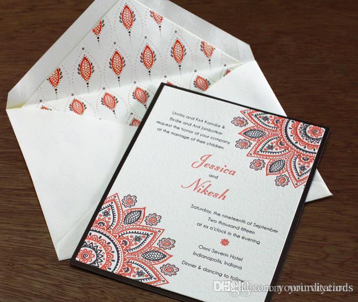Indian Letterpress Wedding Invitation Cards