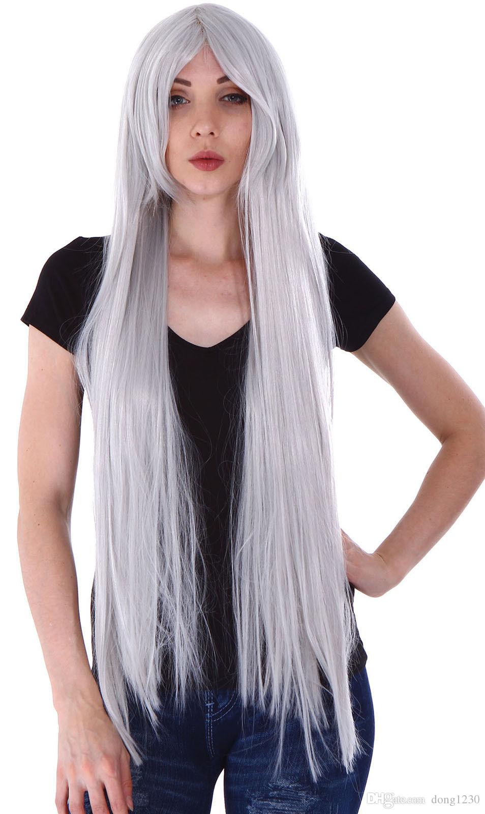 100cm Long Women Straight Hair Wig Fancy Dress Costume Party Cosplay Full  Wigs Younique Lace Wigs Online Wigs From Dong1230 ec8a95a79c0e