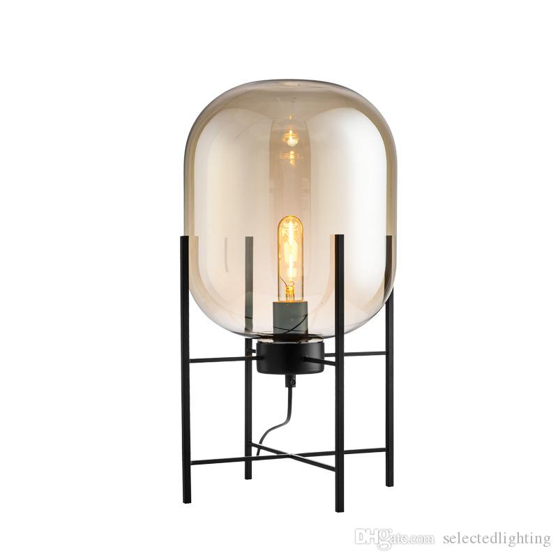 modern standing lamp. 2018 Modern Floor Lamp Brokis Standing Lamps For Living Room Reading Lighting Loft Big Glass Shade Lights E27 Medium Small From