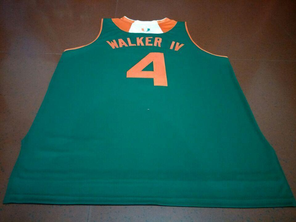 2019 Men  4 LONNIE WALKER IV College Jersey White ORANGE GREEN Stitched  Personalized Or Custom Any Name Or Number College Jersey From Ncaa001 5fd44310a