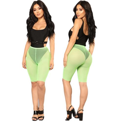 703456a4b40a9a Compre Pantalones Cortos De Ciclismo De Malla De Malla Para Mujer De New  Ladies See Through Fashion Sexy Solid A $35.44 Del Blairi | DHgate.Com