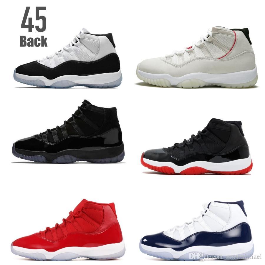 outlet store 3d34f 2cc00 Compre Classic 11 Space Jam 11s Concord 45 Atrás 23 Platinum Tint Lows  Gamma Legend Blue Hombres Zapatos De Baloncesto Zapatillas De Deporte Good  Quality ...