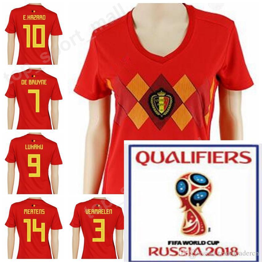 Wholesale - 2018 World Cup Soccer Women Belgium Jersey Lady Eden ... 0d51fdff0