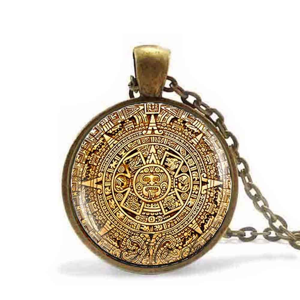 2018 mayan calendar pendant mayan calendar jewelryaztec necklace 2018 mayan calendar pendant mayan calendar jewelryaztec necklace antique bronze chain astronomy archaeology jewelry for men from watercup 2284 dhgate aloadofball Image collections