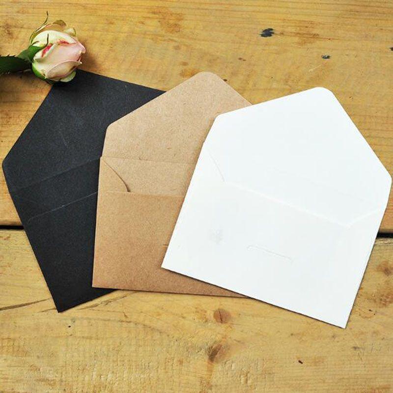 black white craft paper envelopes vintage european style envelope