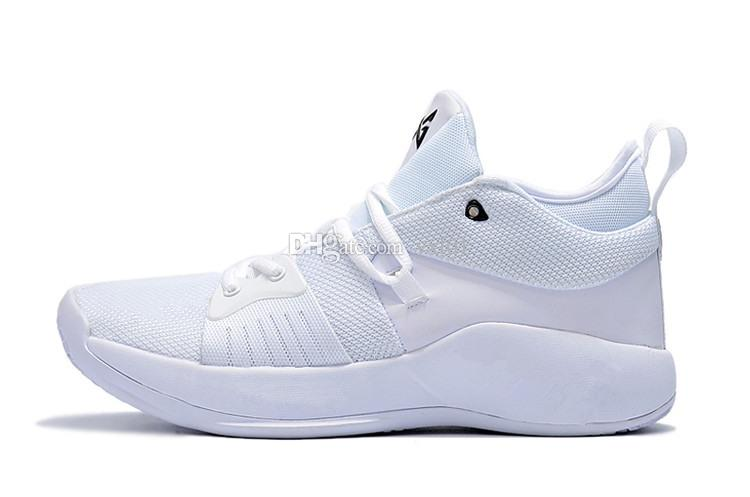 2018 High quality Paul George 2 PG II Basketball Shoes for Cheap PG2 2S Starry Blue Orange All White Black Sports Sneakers Size40-46