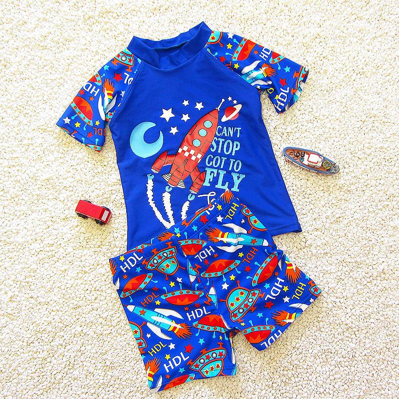 6439ad2190 2019 Children'S Bathing Suit 2018 Infant Cartoon Big Medium And Small Baby  Swimsuit Cute Boy Splitd Flat Angle Swimming Trunk Suit From Namenew, ...