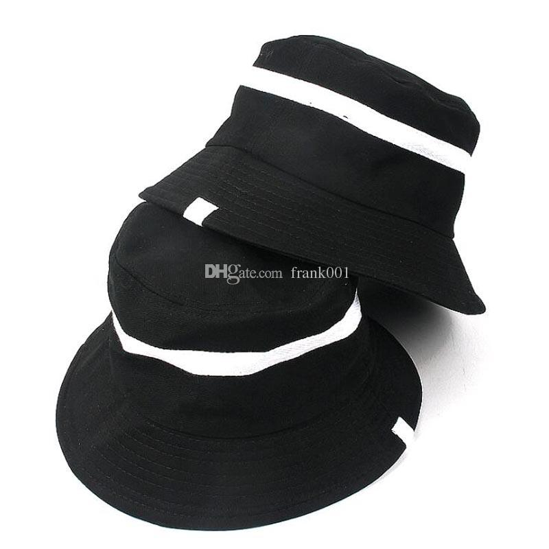39de237574b 2019 Spring Classic Black White Bucket Hat For Women Outdoor Travel Fishing  Hat Summer Beach Chapeau Boonie Hats UV Protection Cap From Frank001