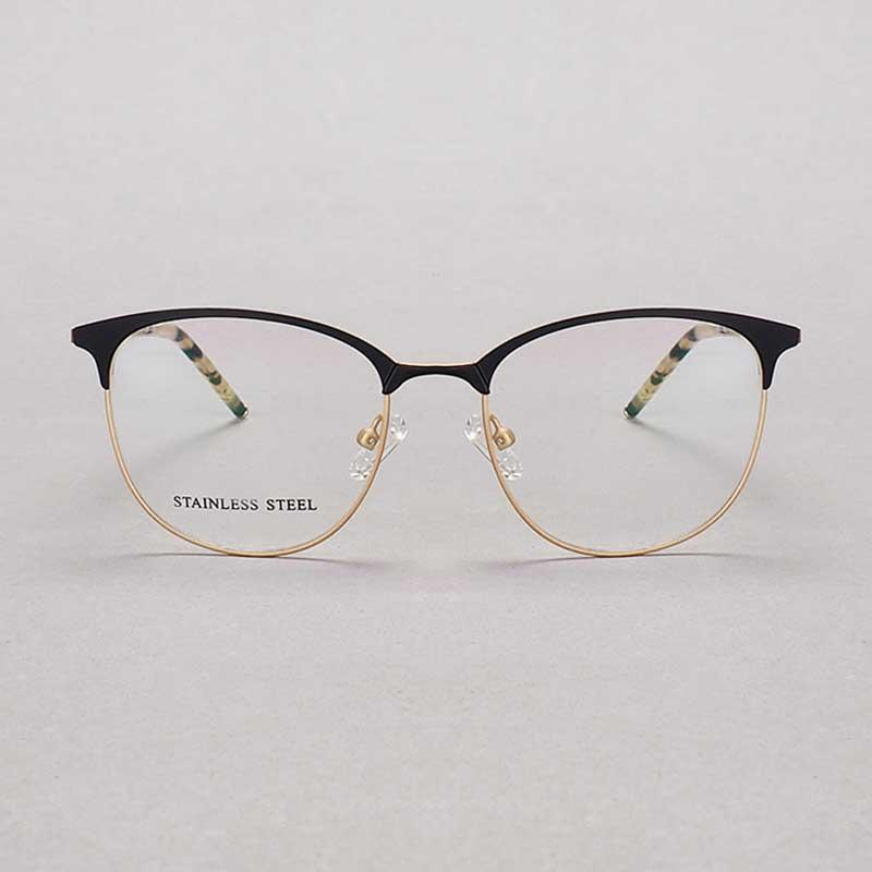 cf41522d773ae YOUTOP Male s Fashion Big Square Eyeglasses Striped Stainless Steel ...