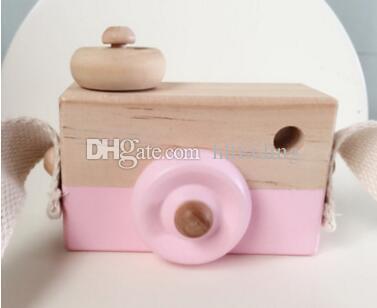 Bebé cámara de simulación de madera para niños viaje fresco Mini juguetes 2018 regalo de cumpleaños seguro lindo Accesorios de dibujos animados habitación para niños es C3703