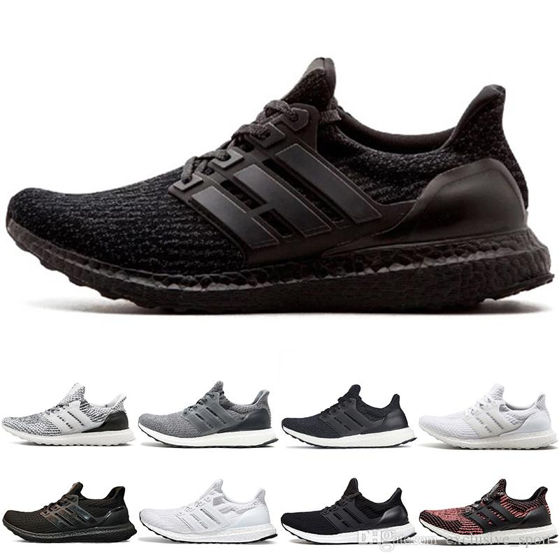 low priced 03bfe f929e Acquista Adidas Ultra Boost The Details Page For More Logo Ultra 4.0 3.0  Scarpe Da Corsa Donna Uomo Core Triple Nero Bianco Sneaker CNY Cool Grey  Sconto ...