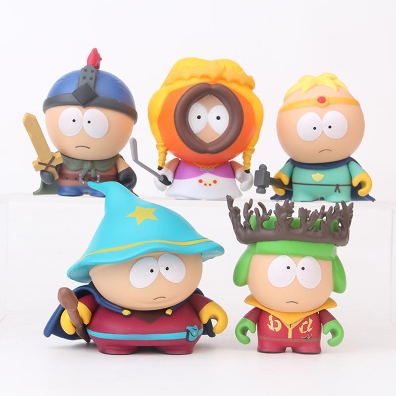 vente en gros Q Version Anime Cartoon Collection South Park PVC Garage Kit Enfants Anniversaire Juguetes Cadeau Action Figure Jouet