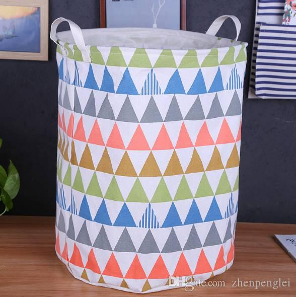 Canvas Debris Basket Oversized Storage Basket Folding Dirty Clothes  Waterproof Toys Storage Bucket Fabric Home Bucket Storage Baskets Storage  Containers ...