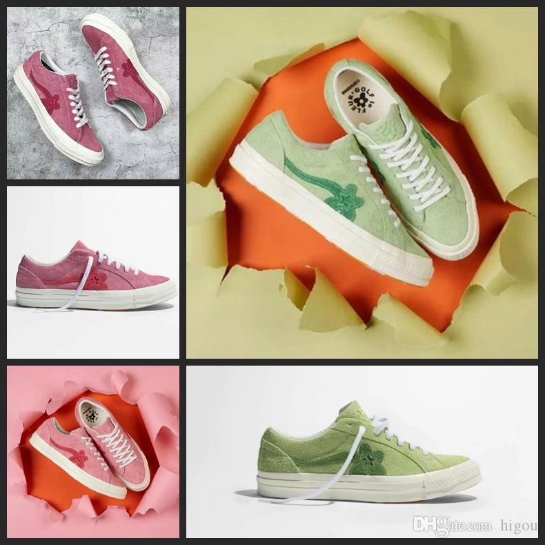 9e84ff504c7d41 2018 Converse One Star X Golf Le Fleur TYLER TTC Chuck Creator Casual Bee  Fur Designer Pink Green Running Skateboard Shoes Sneakers 35 44 Canada 2019  From ...