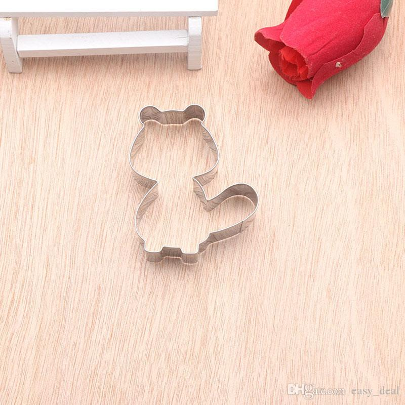 Cake Decorating Tools Stainless Steel Squirrel Of Type Fondant Cut-Out Candy Biscuit Jelly Cookie Cutters ZA5664