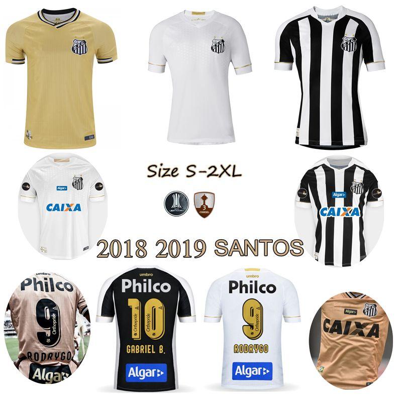 13fc2bcc7c5 Satın Al 2018 2019 Santos FC Futbol Forması 18 19 Santos Ev Sahibi Gabriel  RODRYGO DODO RENATO SASHA Forma Gömlekleri