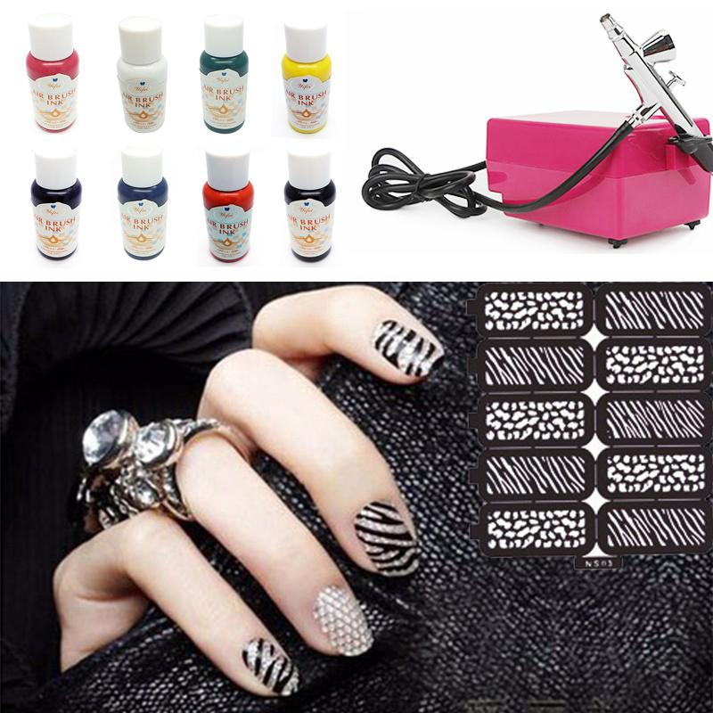 Multi Style Airbrush Nail Art Kit Aerograph Paint For Nail Air Brush