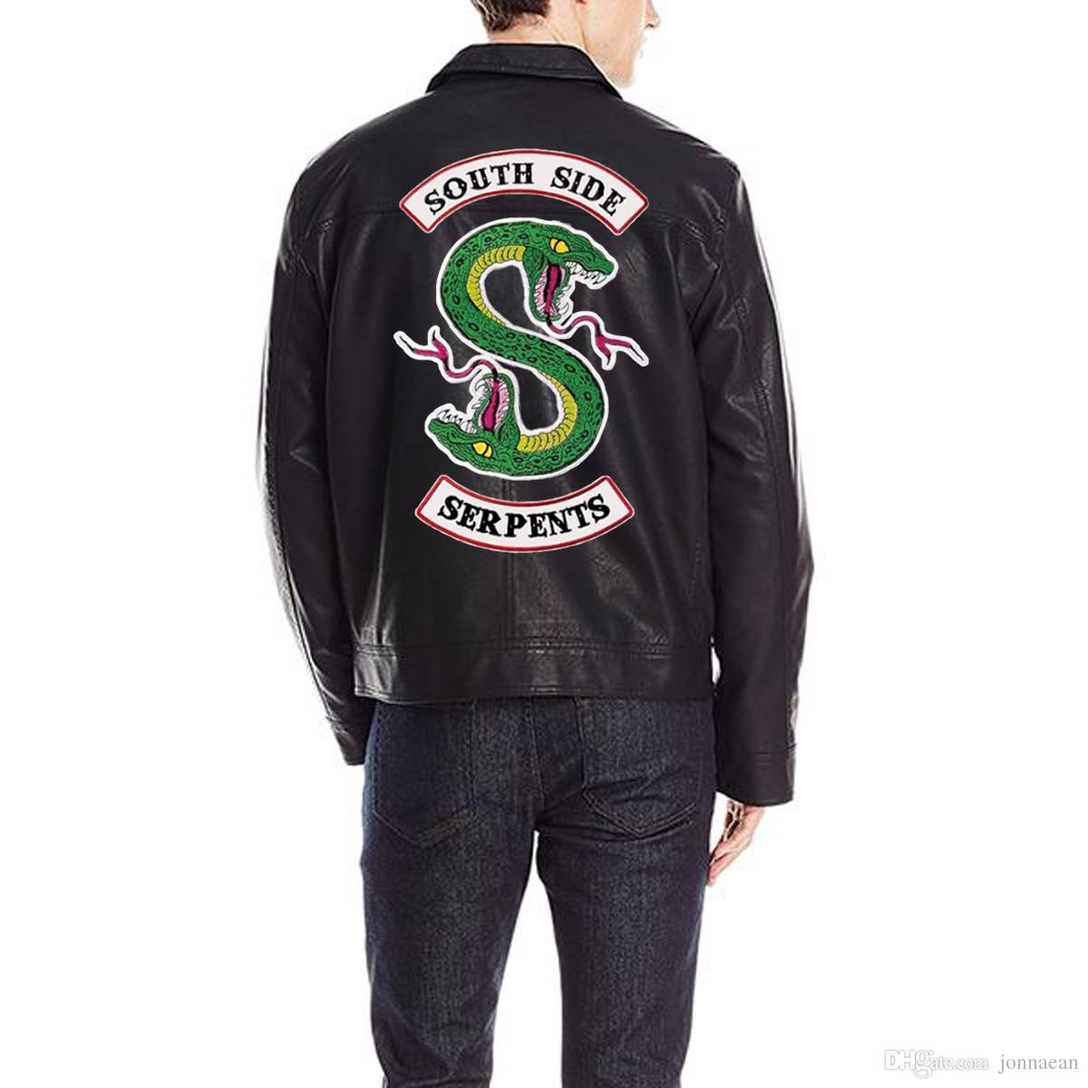 Riverdale SouthSide Patch posteriori Ferro ricamato su motocicletta Giacca da motociclista Set gilet Due taglie Distintivo di moda maschile e femminile Design personalizzato