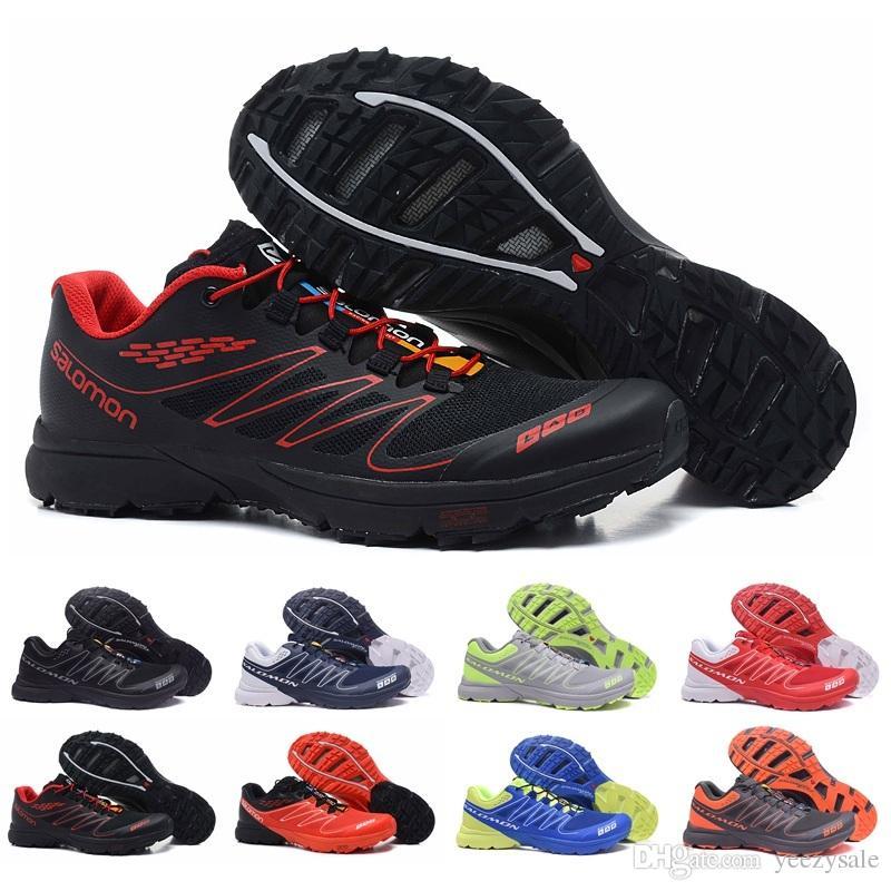 brand new 619d7 4c1f9 Acheter 2018 Salomon S Lab Sense M Chaussures De Course Baskets Meilleure  Qualité Hommes Chaussures Nouvelle Mode Athlétique Running Sports Randonnée  En ...