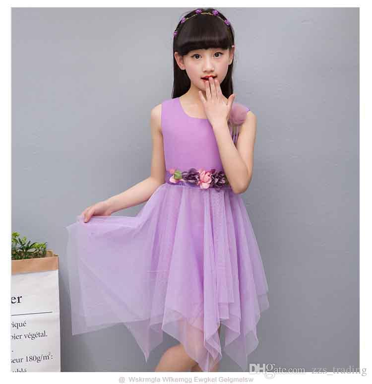 2bb0a1529a1 Latest styles Dresses Children Baby Kids Girls Clothes Lace Hollow Out  Sleeveless Cool Princess Summer Dress Clothes Kid