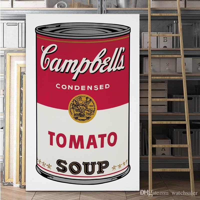 Satın Al 1 Panel Pop Sanat Baskı Duvar Boyama Domates çorbası Soyut