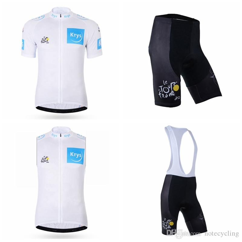 TOUR DE FRANCE Cycling Short Sleeves Jersey Bib Shorts Sleeveless Vest Sets  Ropa Ciclismo Hombre Summer Hot Cycling Outdoor A41845 Cycling Cycle  Surgery ... d2093fd7c