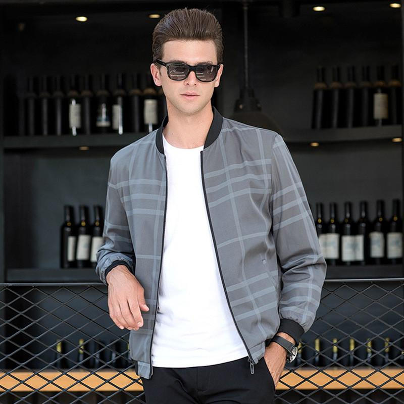 b2048c8ec4d 2018 Men Autumn Jackets Trend Fashion Plaid Coats Clothing Thin Section Mens  Business Casual Jacket Jaqueta Masculina Male Canada 2019 From Sogga