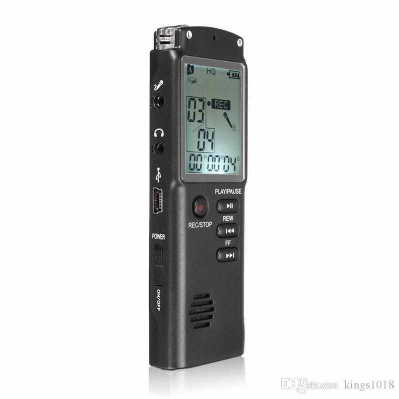 new Portable 8GB LCD Digital Audio Voice Recorder Dictaphone Rechargeable  MP3 Player With Earphone Built-in Microphone