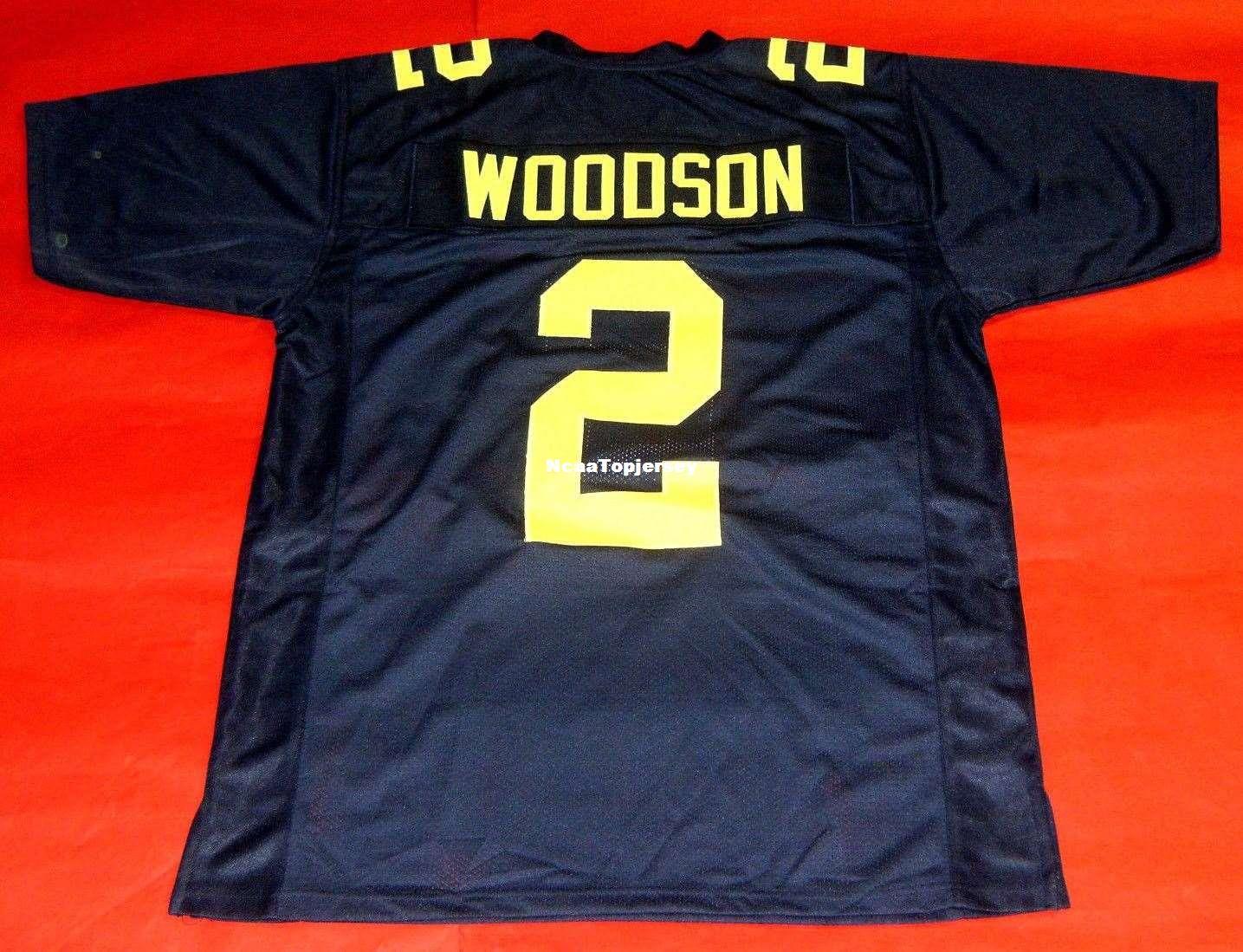 online retailer b92b5 a2072 Cheap retro #2 CHARLES WOODSON MICHIGAN WOLVERINES SH JERSEY Stitching  Retro Football jerseys Fat man Big And Tall 4XL 5XL 6XL For sale