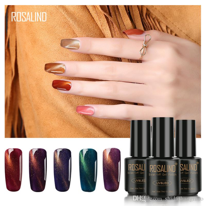 ROSALIND 3D Magnet Magic Cat Eye C31-66 Gel Nail Polish Varnish Soak Off UV Long-lasting Nails Polish gel lacquer