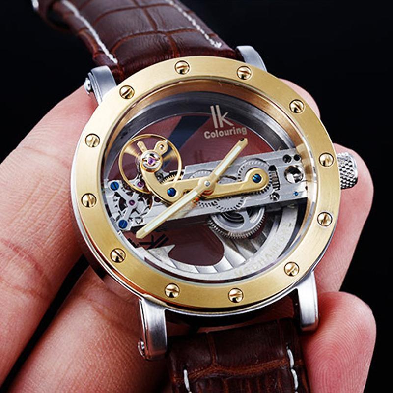 5atm Waterproof Automatic Dive Watches Men Luxury Fashion Brand Ik Mechanical Watch Transparent Unique Design Men S Watches