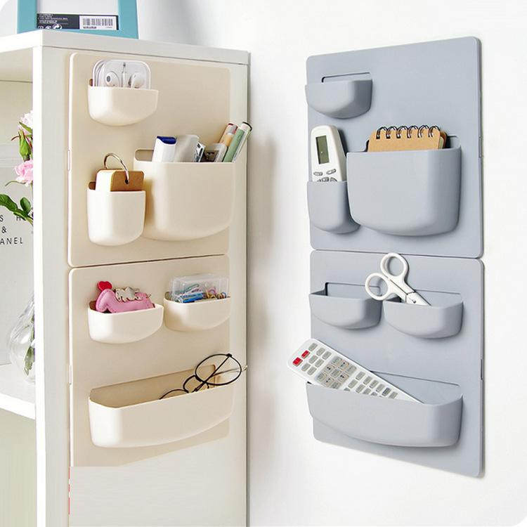 2018 Household Paste Wall Rack Bathroom Sundries Storage Shelves ...