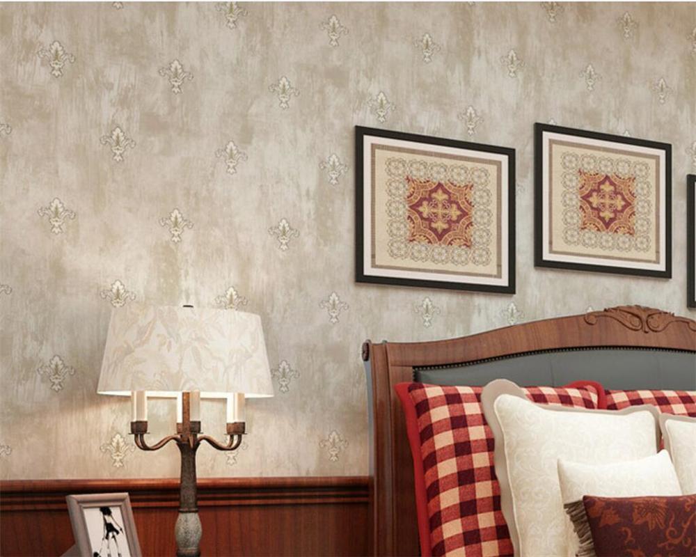 Beibehang American Retro Pastoral Floral 3D Wallpaper Bedroom Living Room Beige Light Green For Walls 3 D Girl Wallpapers From