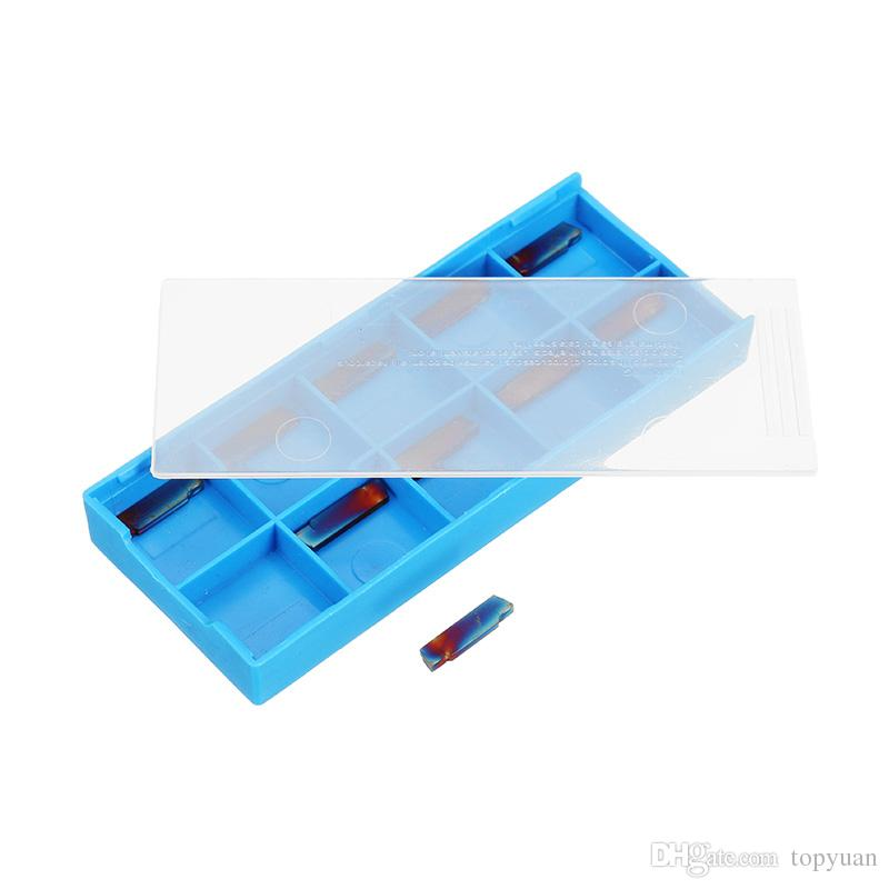 HRC40 Blue Nano MGMN200-G 2mm Carbide Inserts for MGEHR/MGIVR Grooving Cut Off Tool
