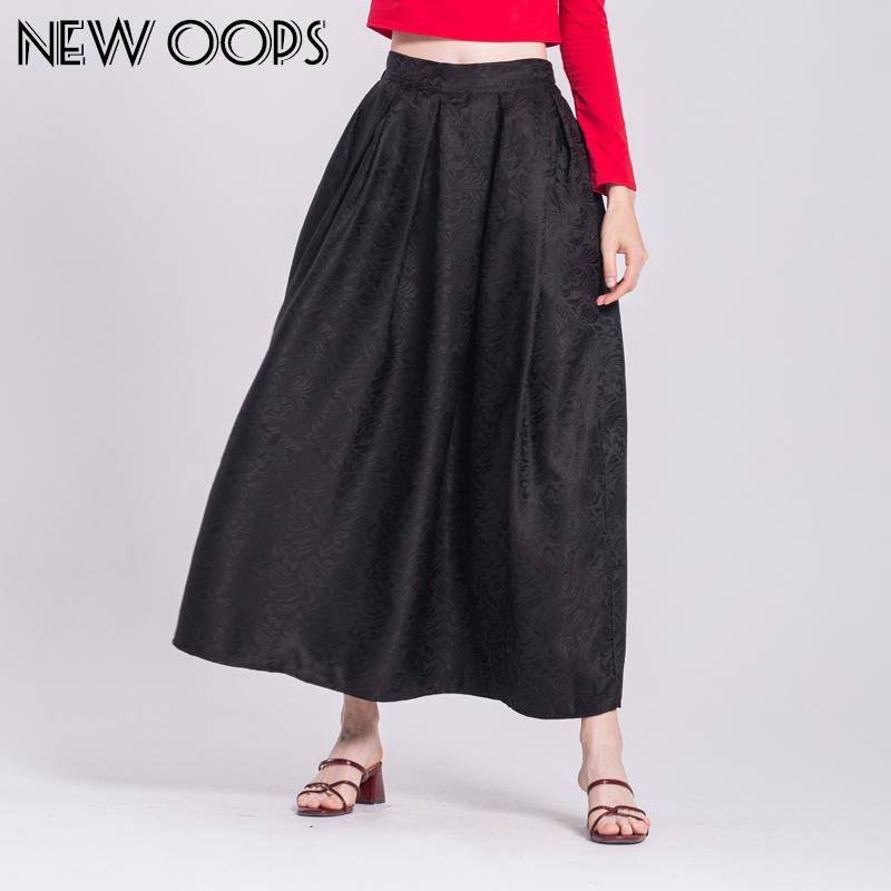 2018 New Oops New Vintage Long Maxi Skirts Fashion 2017 Spring Retro ...