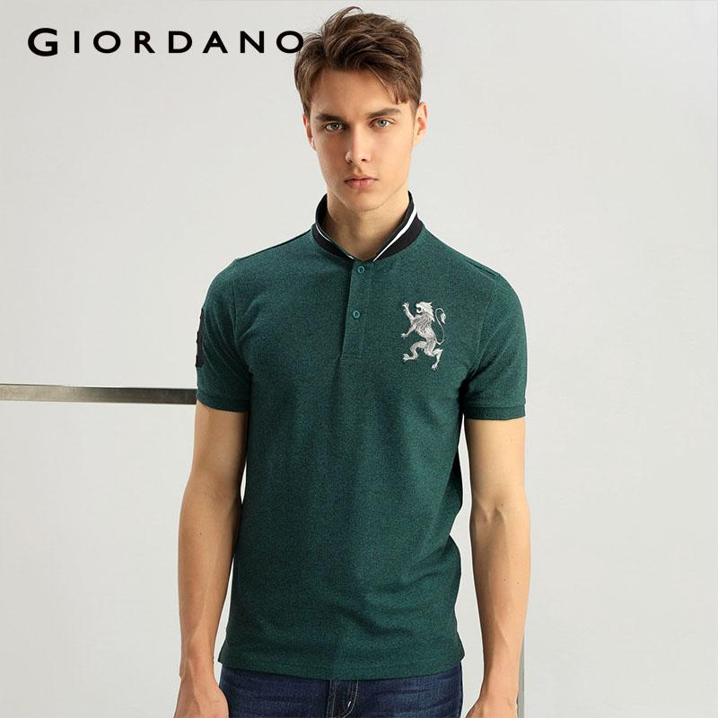 2fda724d526d 2019 Giordano Men Lion Shirt Spandex Stretchy Men Fashion Summer Mens Tops  Camisa Masculina From Caeley
