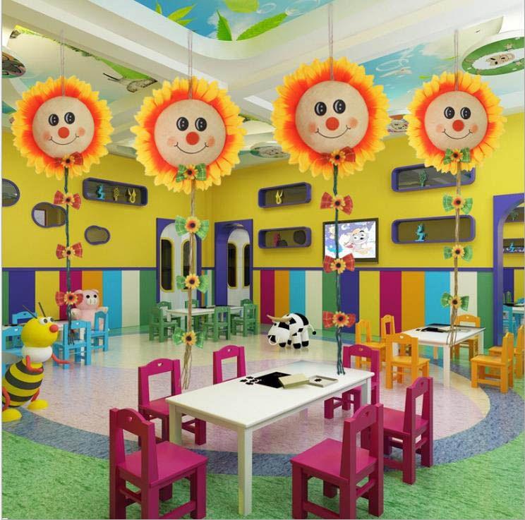 Halloween Classroom Wall Decorations ~ Halloween decorations sun flower smiley face pendant