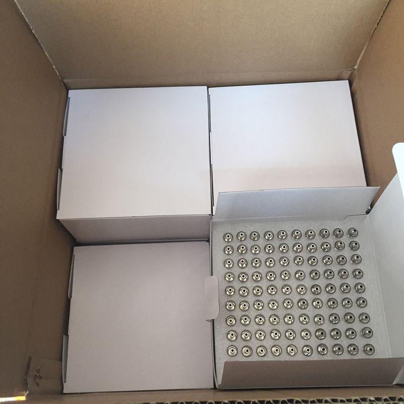 Serbatoio ceramico puro orizzontale Cartuccia acciaio inossidabile AC1003 Cartuccia vetro atomizzatore 0.5ml Cartuccia sigaretta elettronica