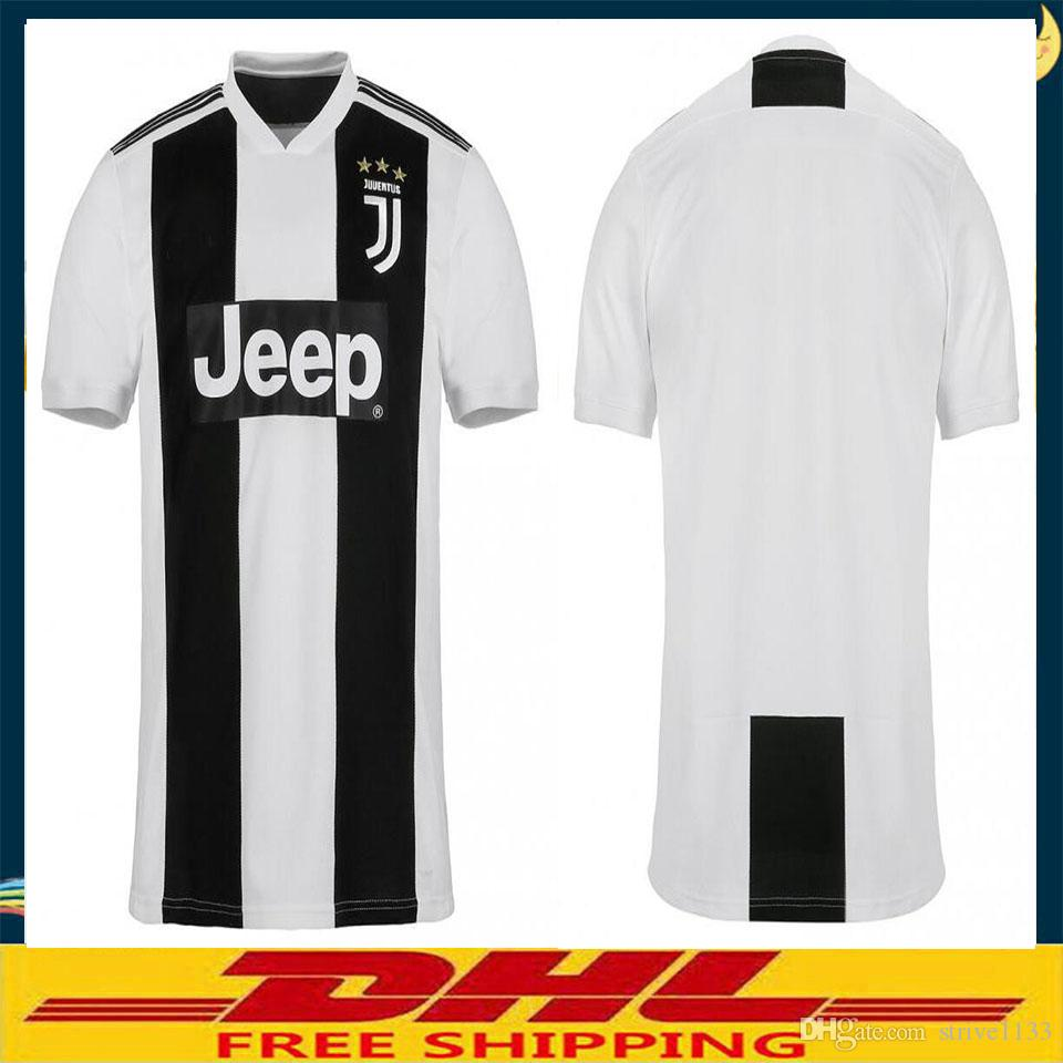 buy popular bb242 0a5c4 DHL free shipping Top Thai quality JUVENTUS Soccer Jersey 2018 2019 JUVE  2018 Home Football Shirt 2019 Size can be mixed batch S-XXL