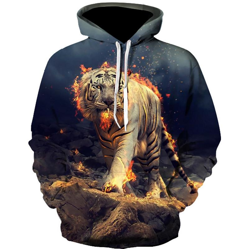 220b1433243c 2019 MR.1991 INC New Arrival Men Sweatshirt 3D Tiger Fire Printing Pullover  Men Hoodie Casual Hooded Clothes Man Hoodies Unisex Dress From  Eventswedding