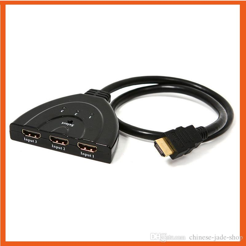 HDMI 3 in 1 Out Pigtail Adapter HDMI Auto Switch Extender Switcher Splitter Hub With Cable For HDTV 1080P