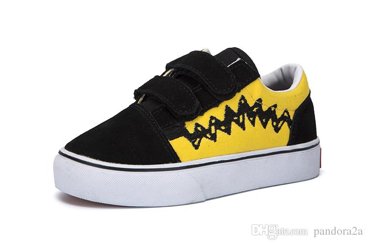 99abeebb01 New Revenge x Storm Black Children Casual Shoes Kendall Jenner Ian Connor  babay Kids Old Skool boys girls Casual Sneakers Shoes